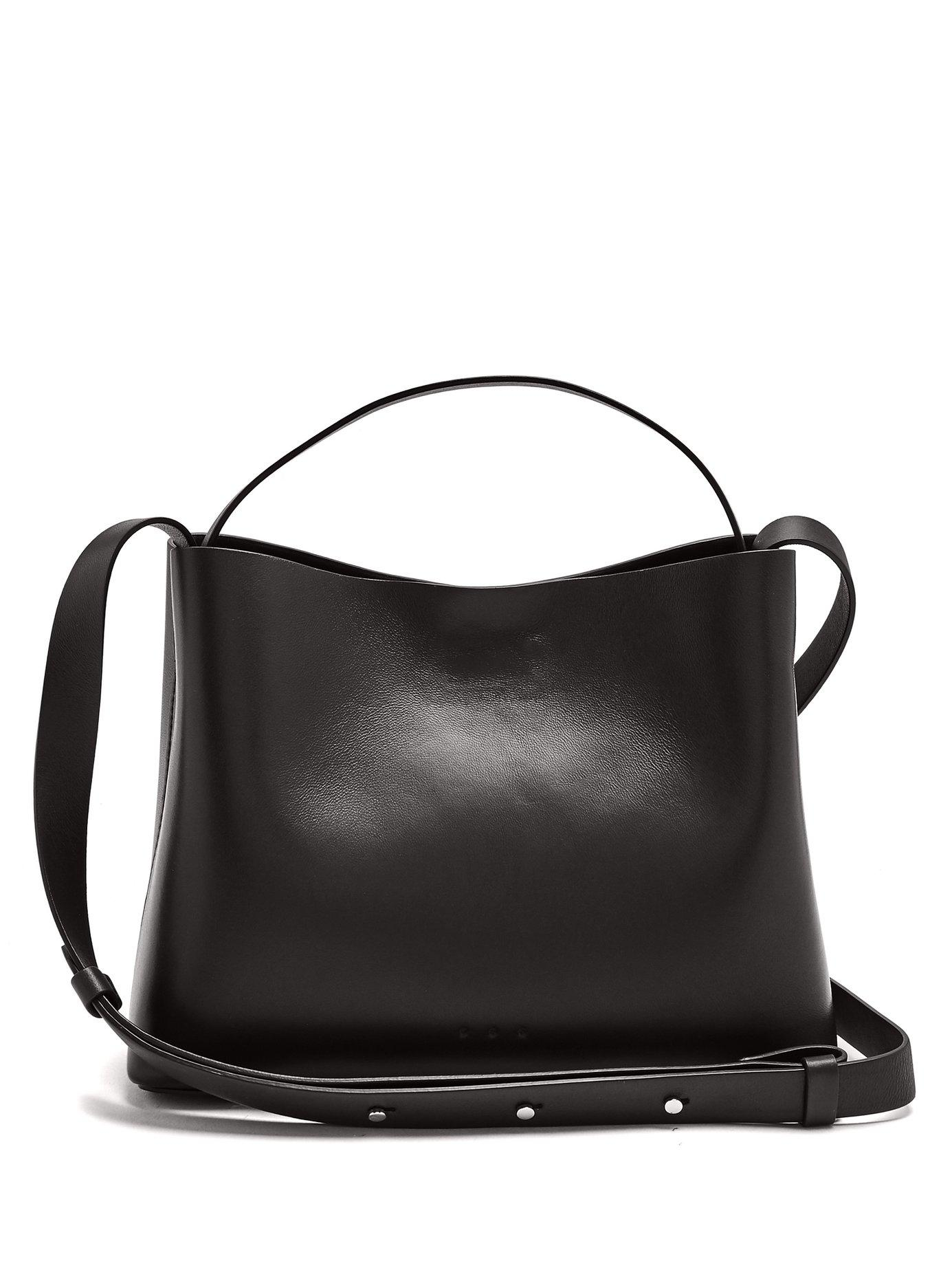 Aesther Ekme Sac Mini Leather Tote Bag In Black  48da957335853