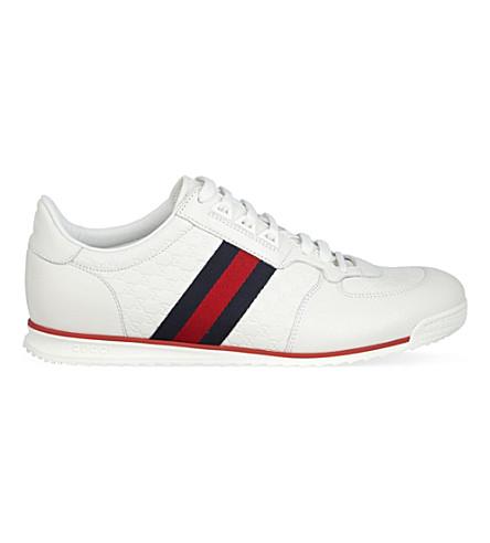Gucci Sl73 Micro Gg Trainers In White