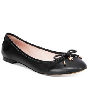 Kate Spade Willa Classic Leather Ballerina Flat In Black