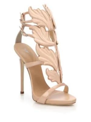 Giuseppe Zanotti Wings Suede High-Heel Sandals, Fondotina In Nude