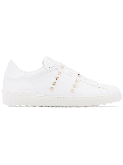 Valentino Garavani Rockstud Untitled #11 Low-top Leather Trainers In White
