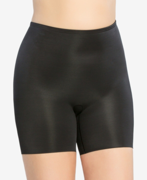 Spanx Plus Size Firm Tummy-Control Double-Layered Thigh Slimmer 10131P In Very Black