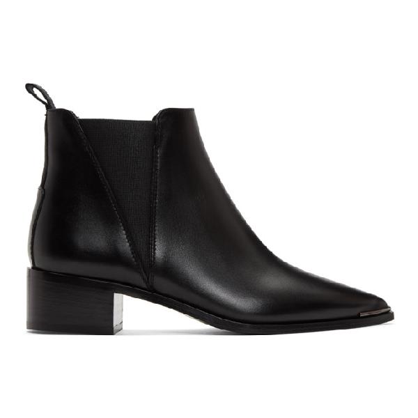 Acne Studios Jensen 40 Black Leather Chelsea Boots