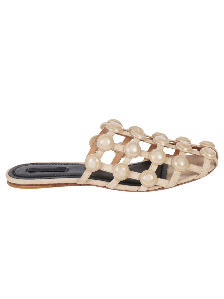 Alexander Wang Amelia Flat Sandals In Cashmere