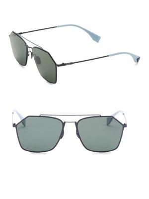 ac5300f6e6f Fendi 56Mm Hexagon Aviator Sunglasses In Grey