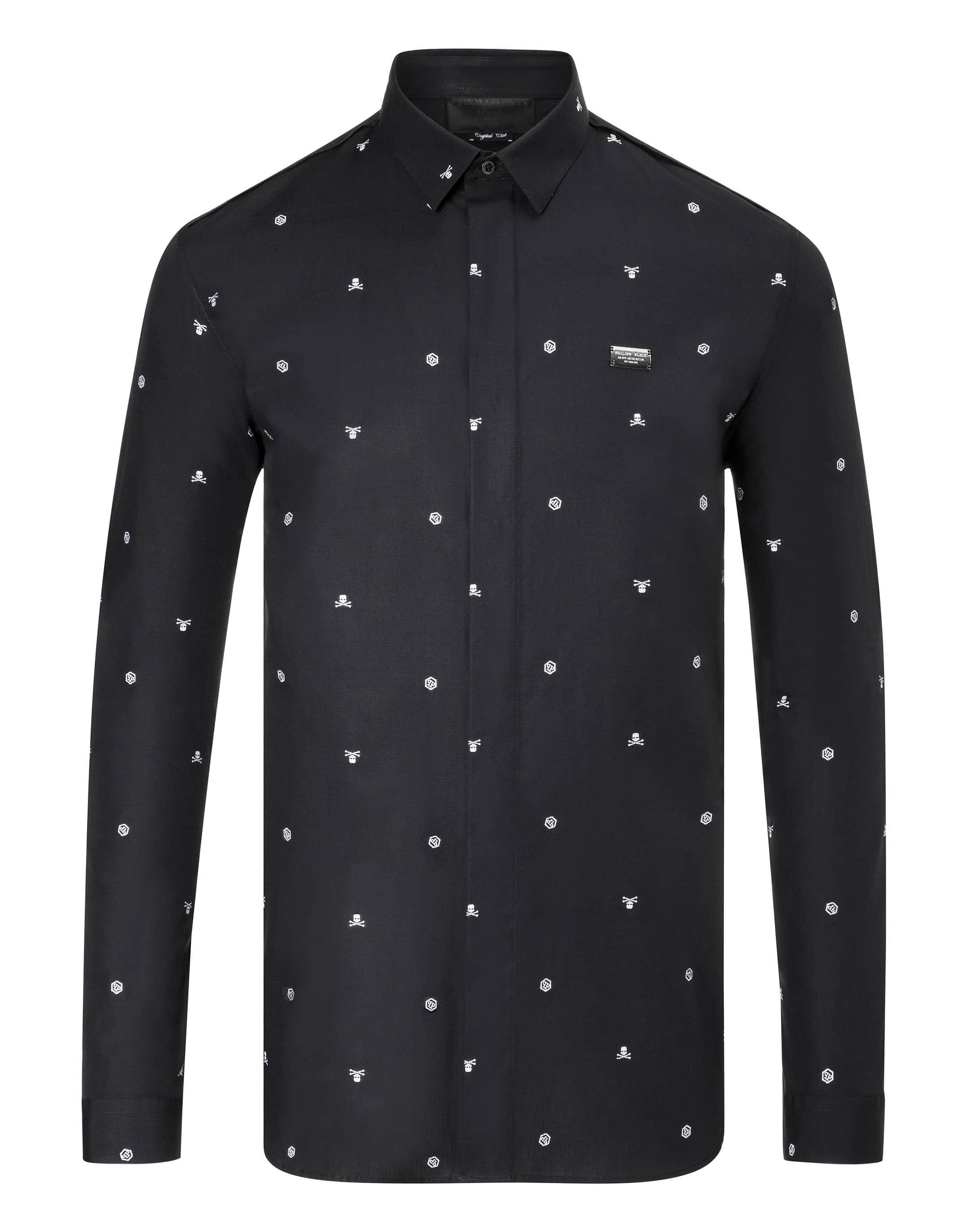 """Philipp Plein Shirt Crystal Cut Ls """"bryant"""""""