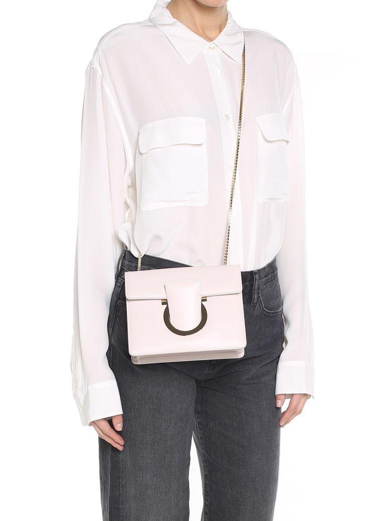 Salvatore Ferragamo Thalia Leather Shoulder Bag In Rosa
