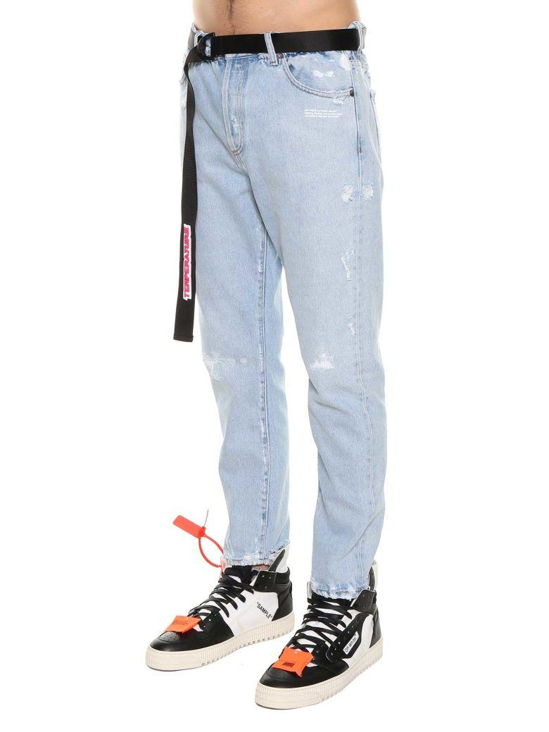 Off-white Low Crotch 5 Pockets Jeans In Denim