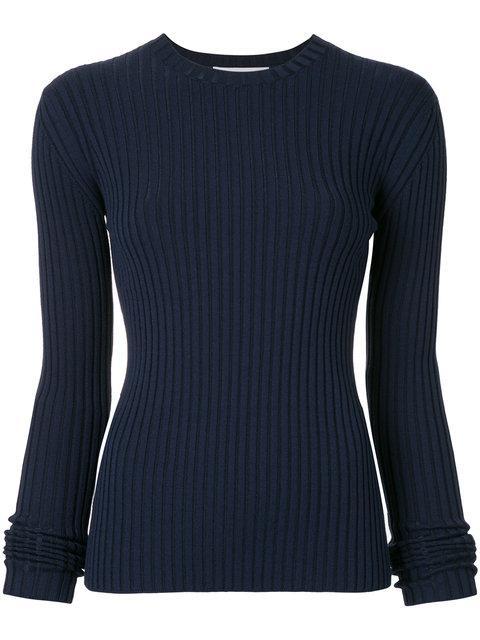 Le Ciel Bleu Ribbed Knit Top