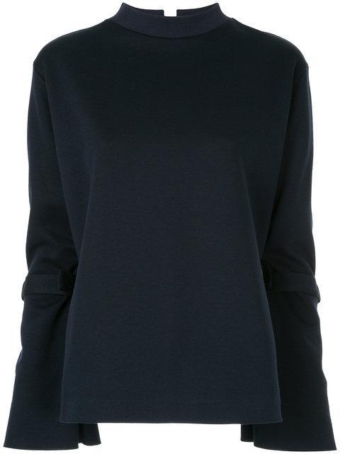 Le Ciel Bleu Strapped Sleeve Sweatshirt