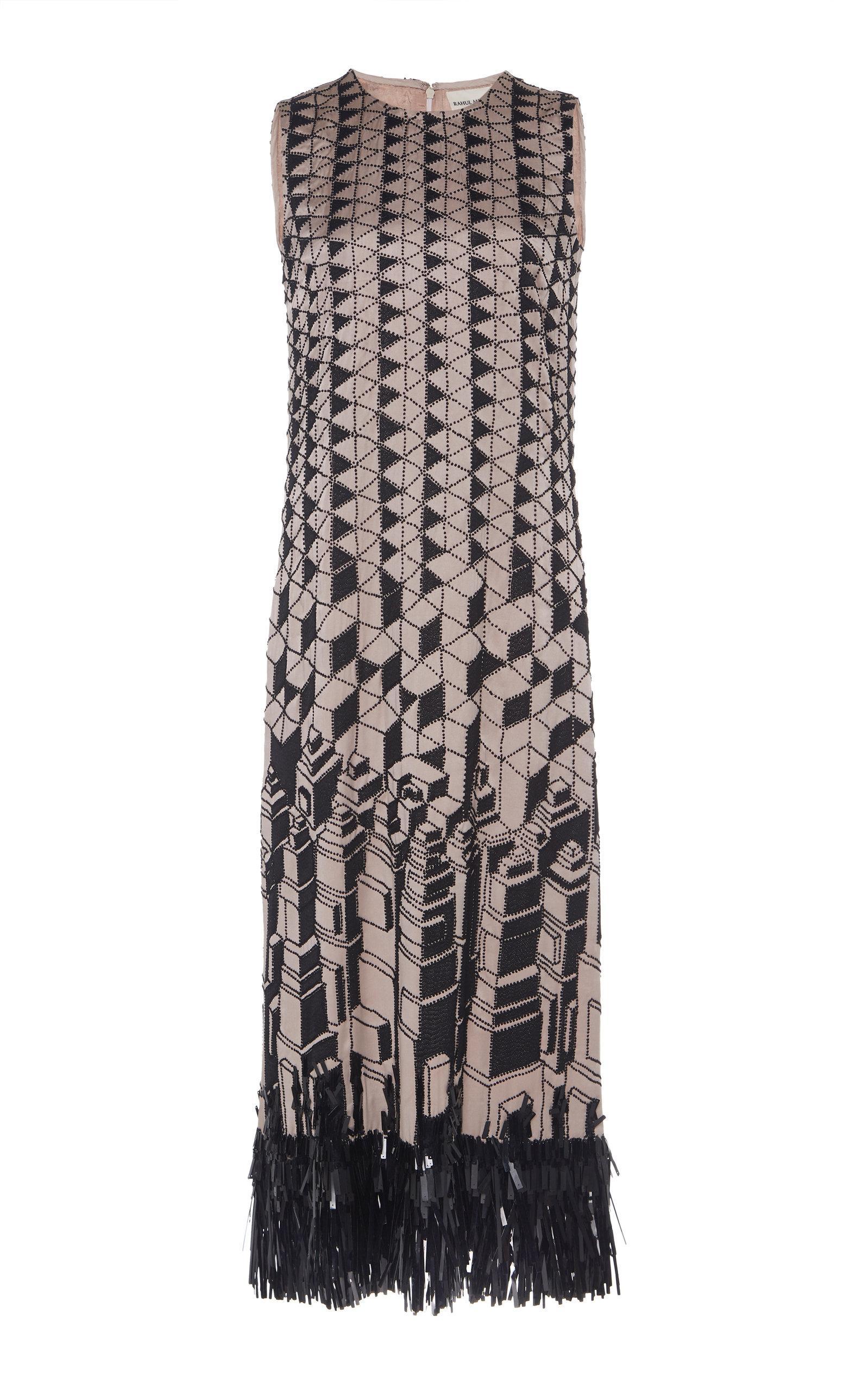 Rahul Mishra Evolutie Fringe Dress In Print