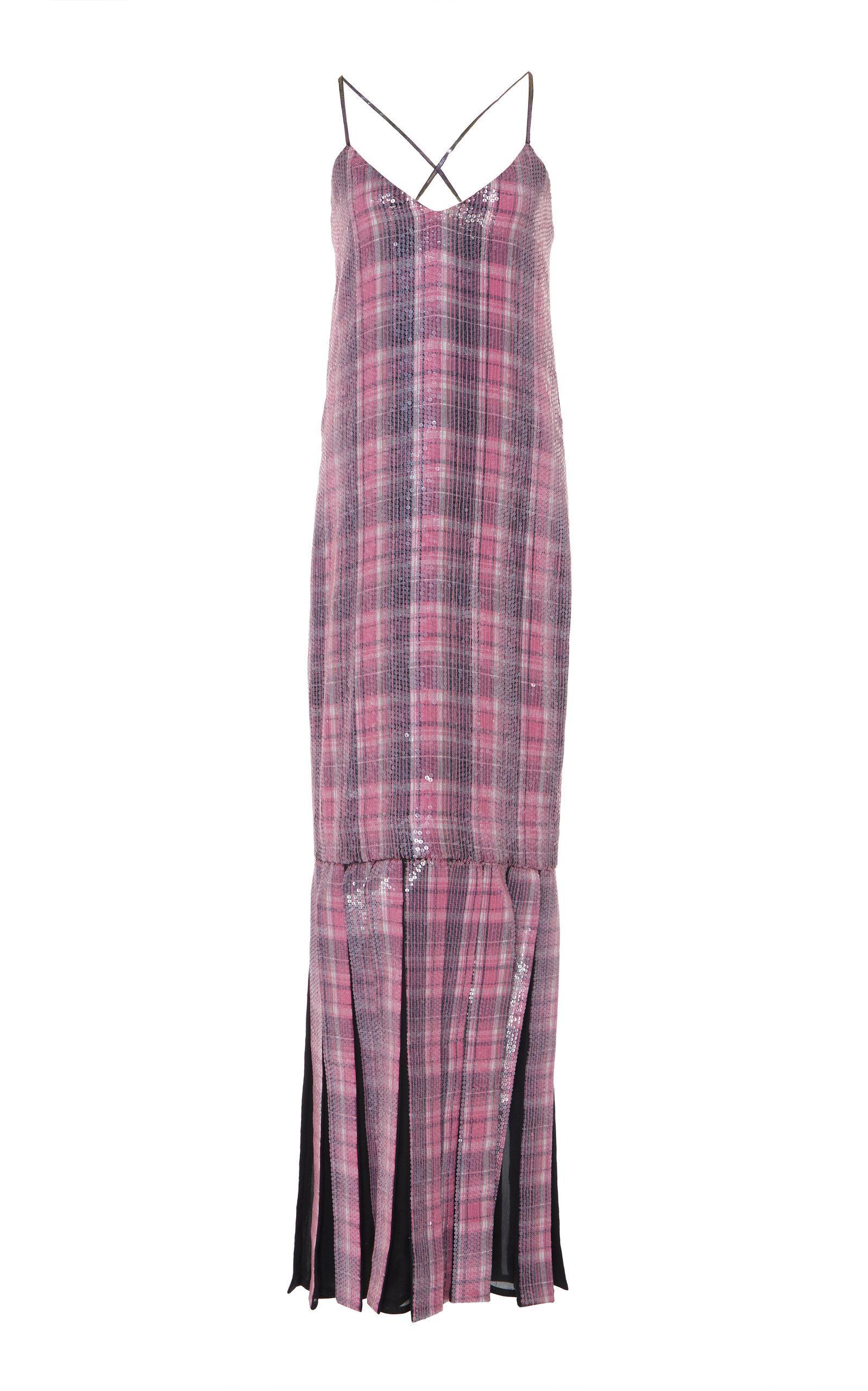 Rahul Mishra Dwelien Fascia Sequin Dress In Plaid