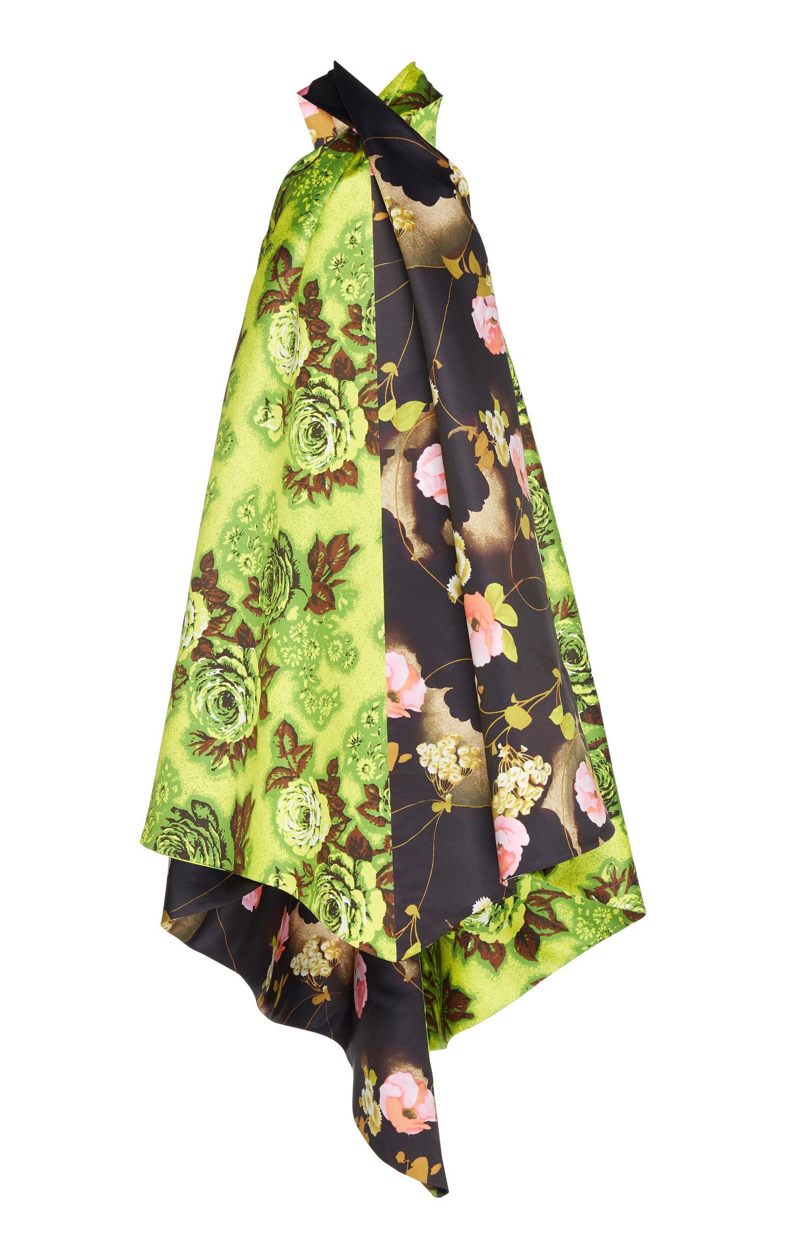 Richard Quinn Handkerchief Dress In Floral