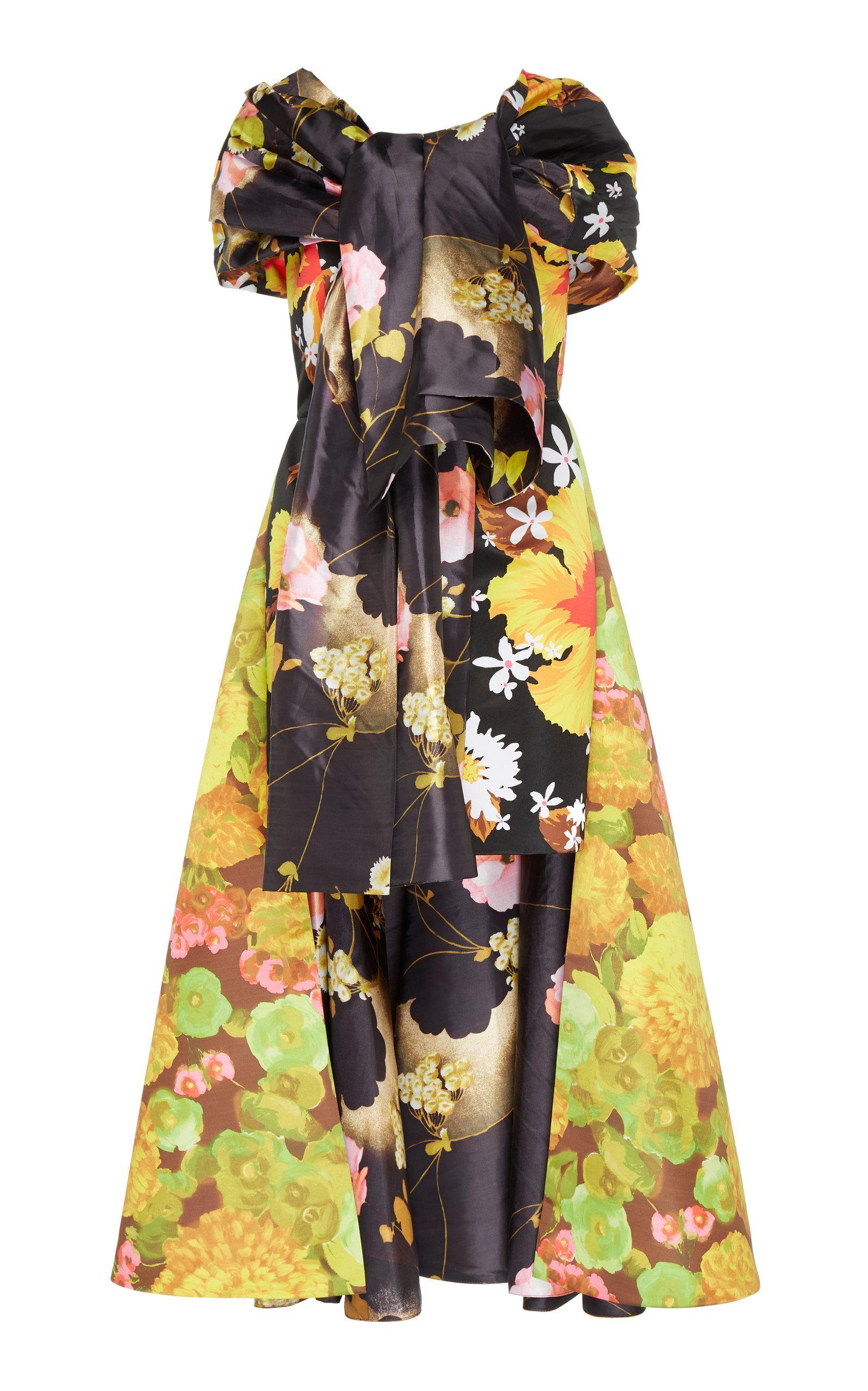 Richard Quinn Floral Bow Dress
