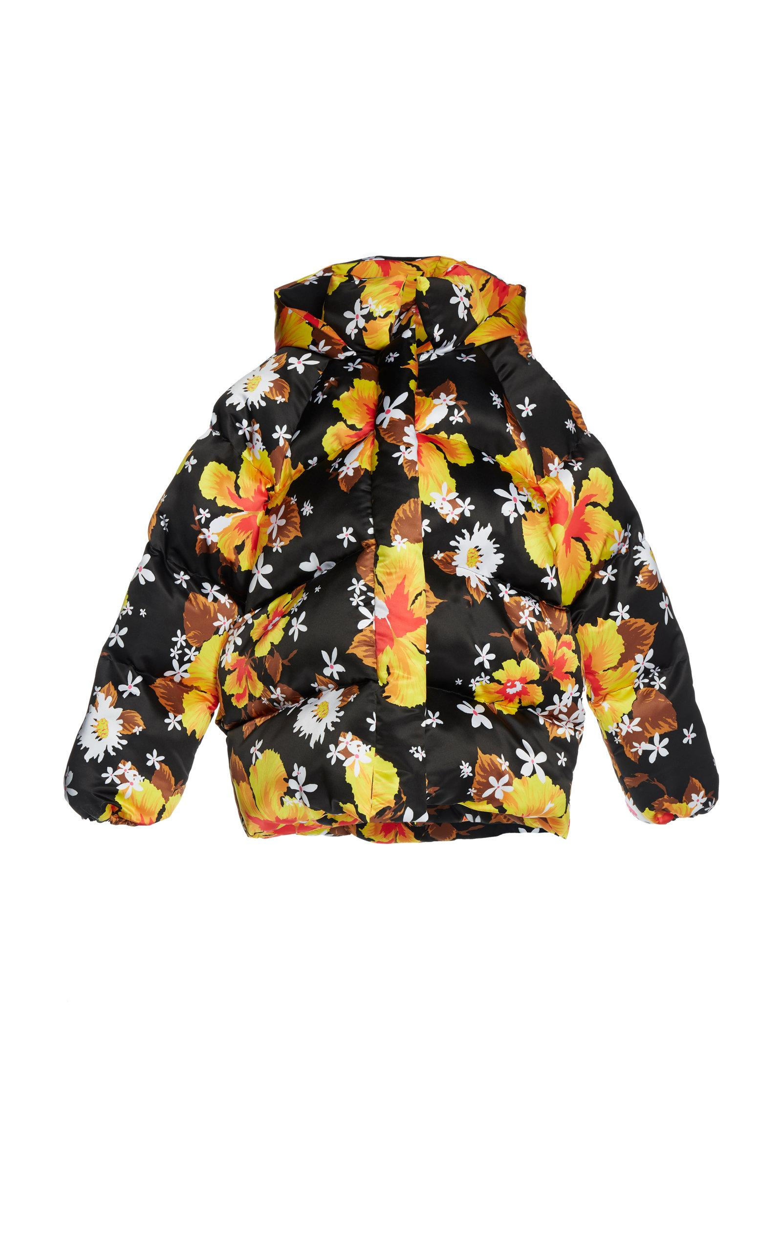 Richard Quinn Hawaii Puffer Coat In Floral