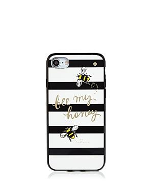Kate Spade New York Jeweled Bee My Honey Iphone 7/8 Case In Black Multi/gold