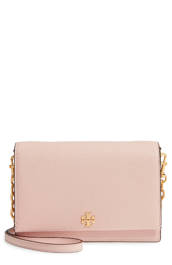 Tory Burch Georgia Pebble Leather Shoulder Bag - Pink In Shell Pink