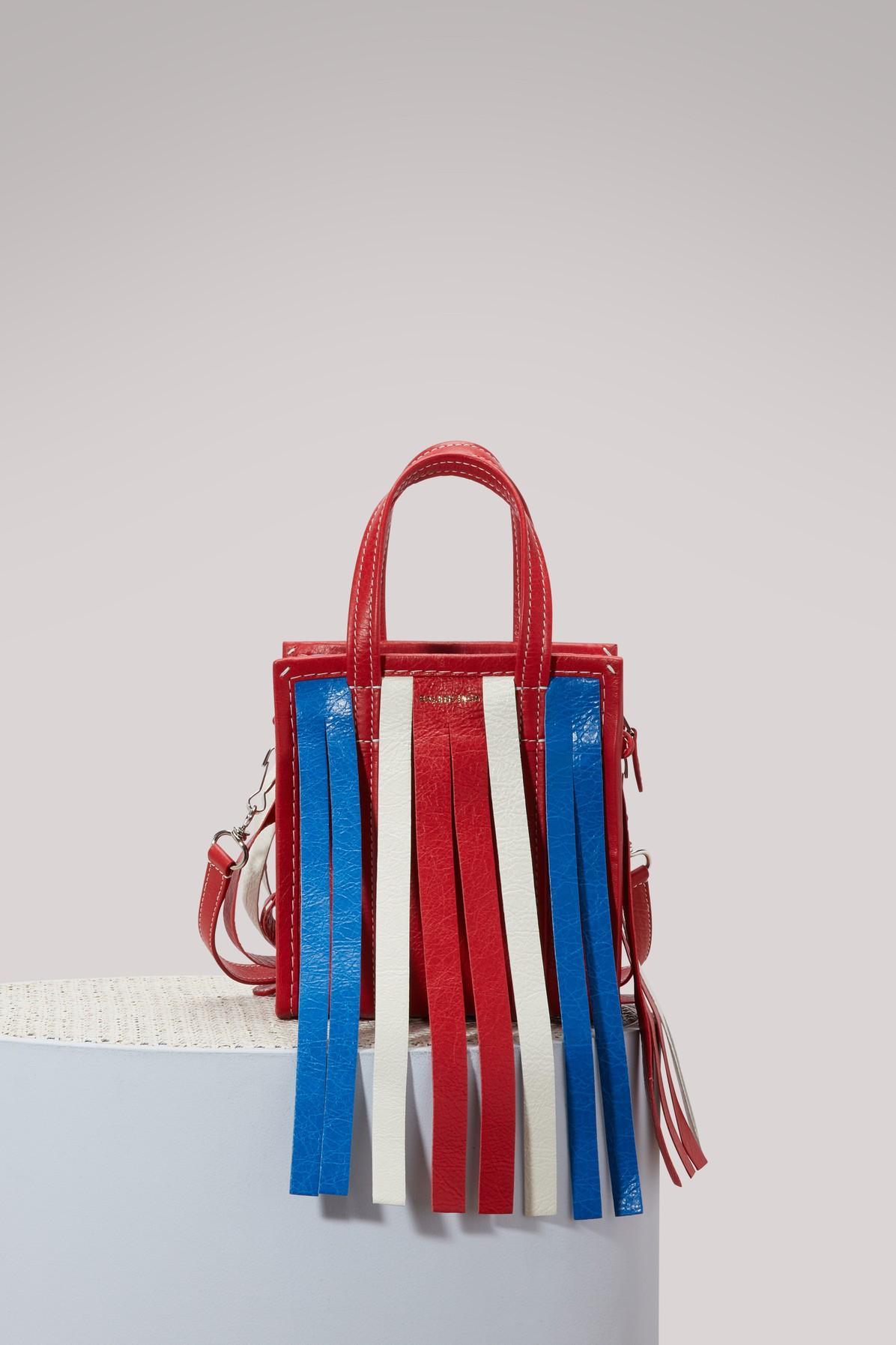Balenciaga Bazar Cuir Arena Xxs Shoulder Bag In Multicolor