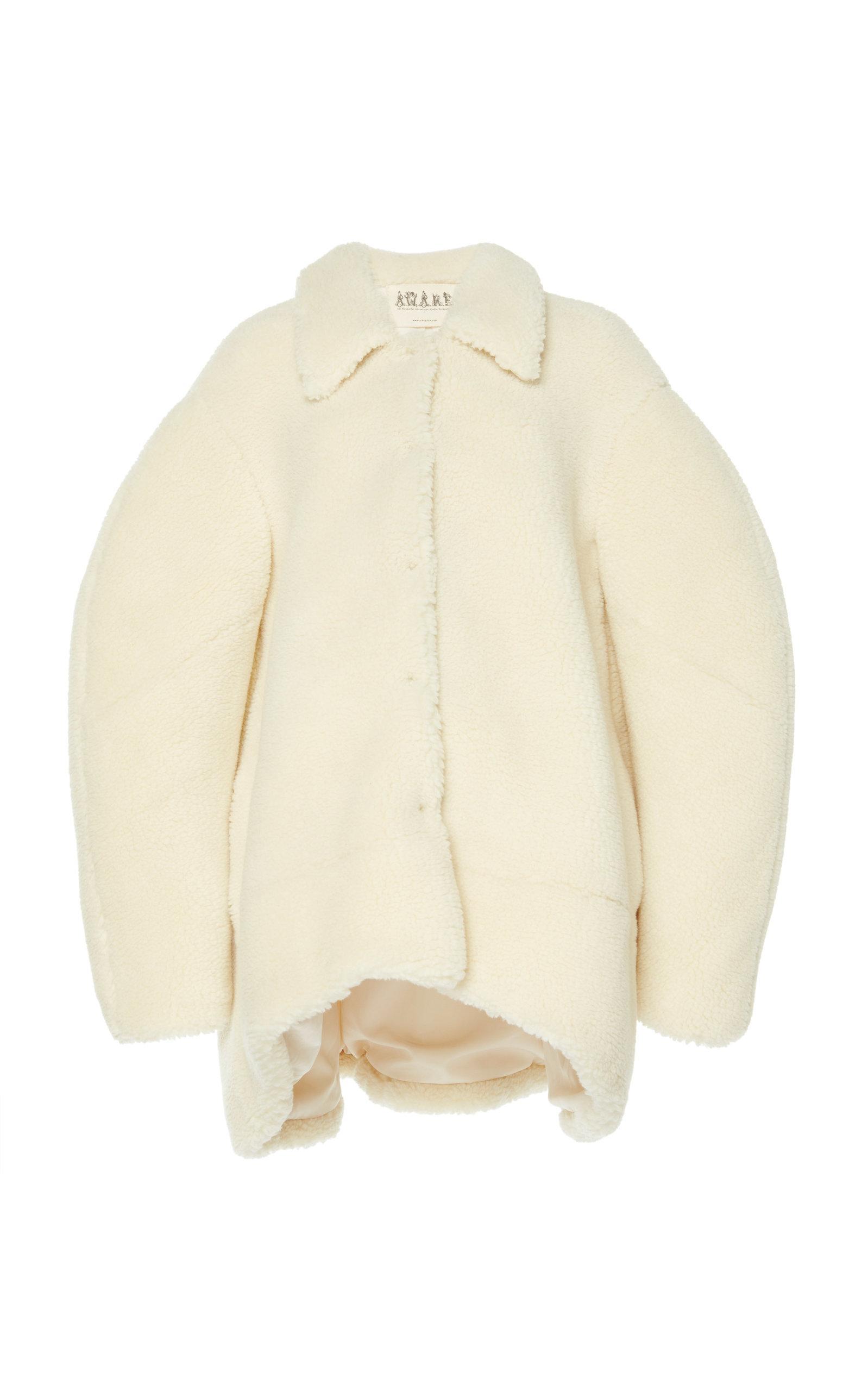 A.w.a.k.e. Faux Shearling Jacket In White