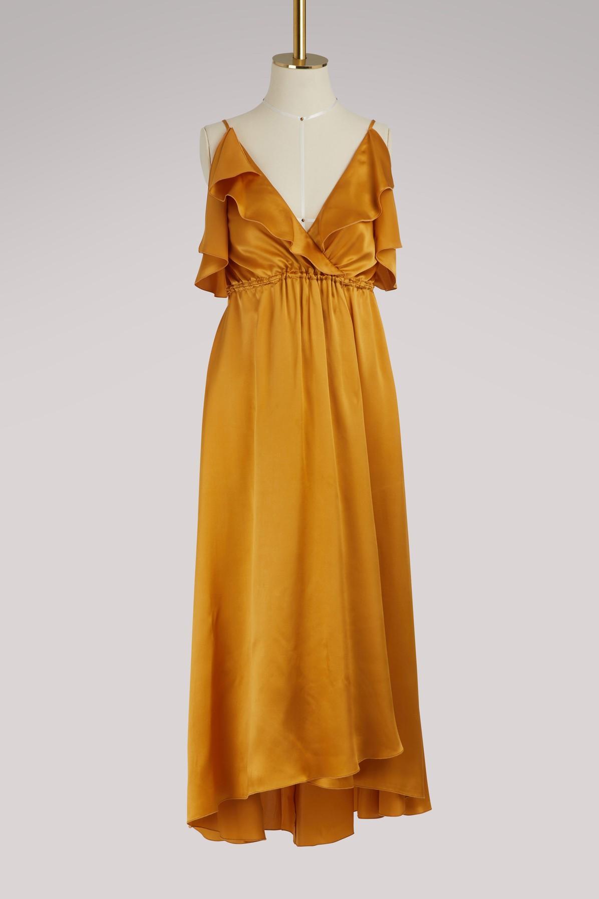 Forte Forte Silk Dress In Oro
