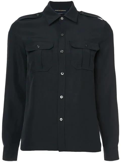Vanessa Seward Driver Silk Shirt In Black