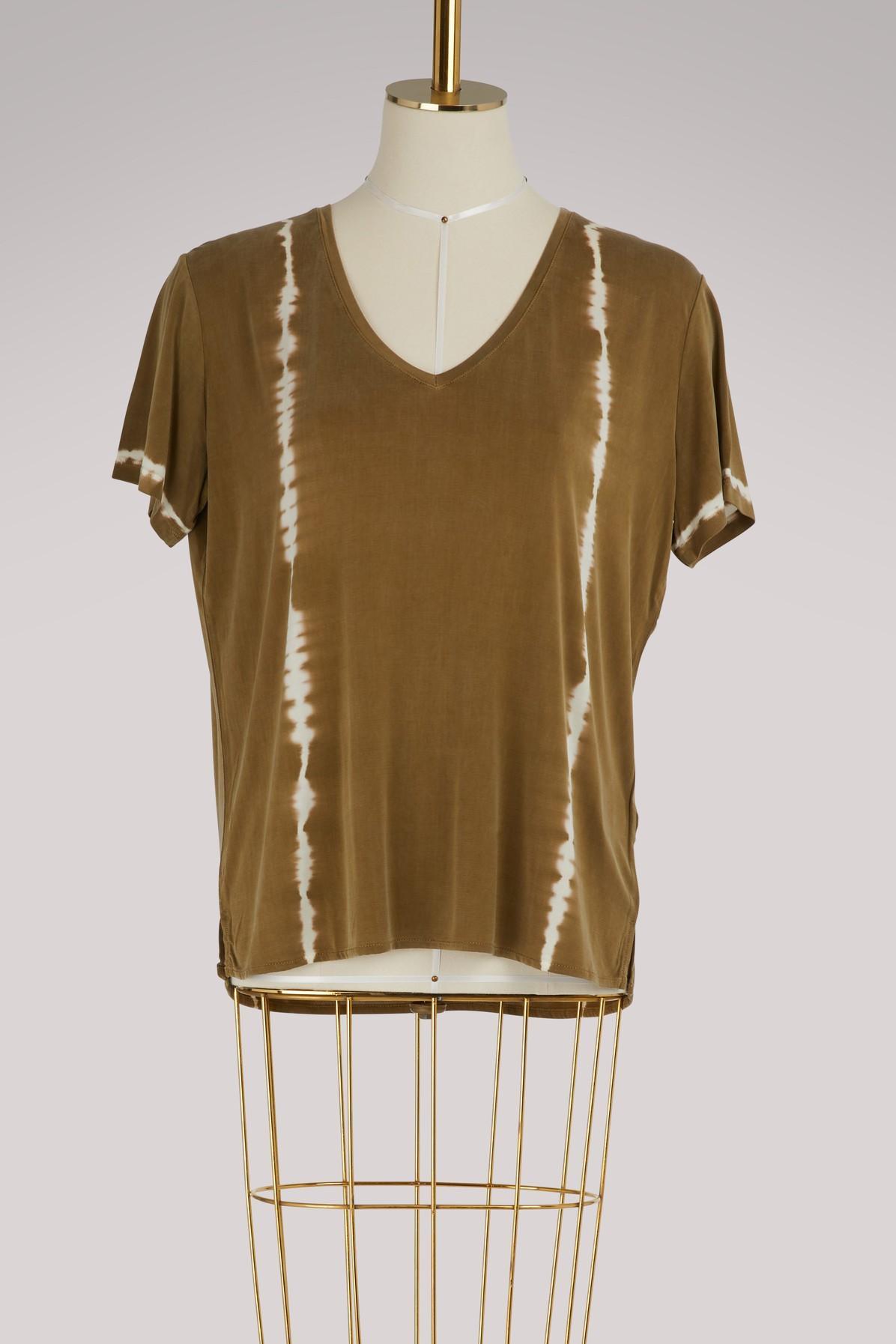 Majestic Tie-dye Short-sleeve T-shirt In Kaki