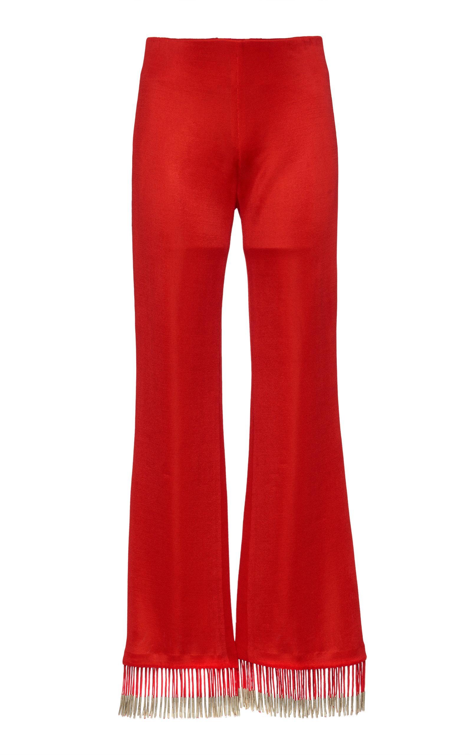 Galvan Molten Fringe Trouser In Red