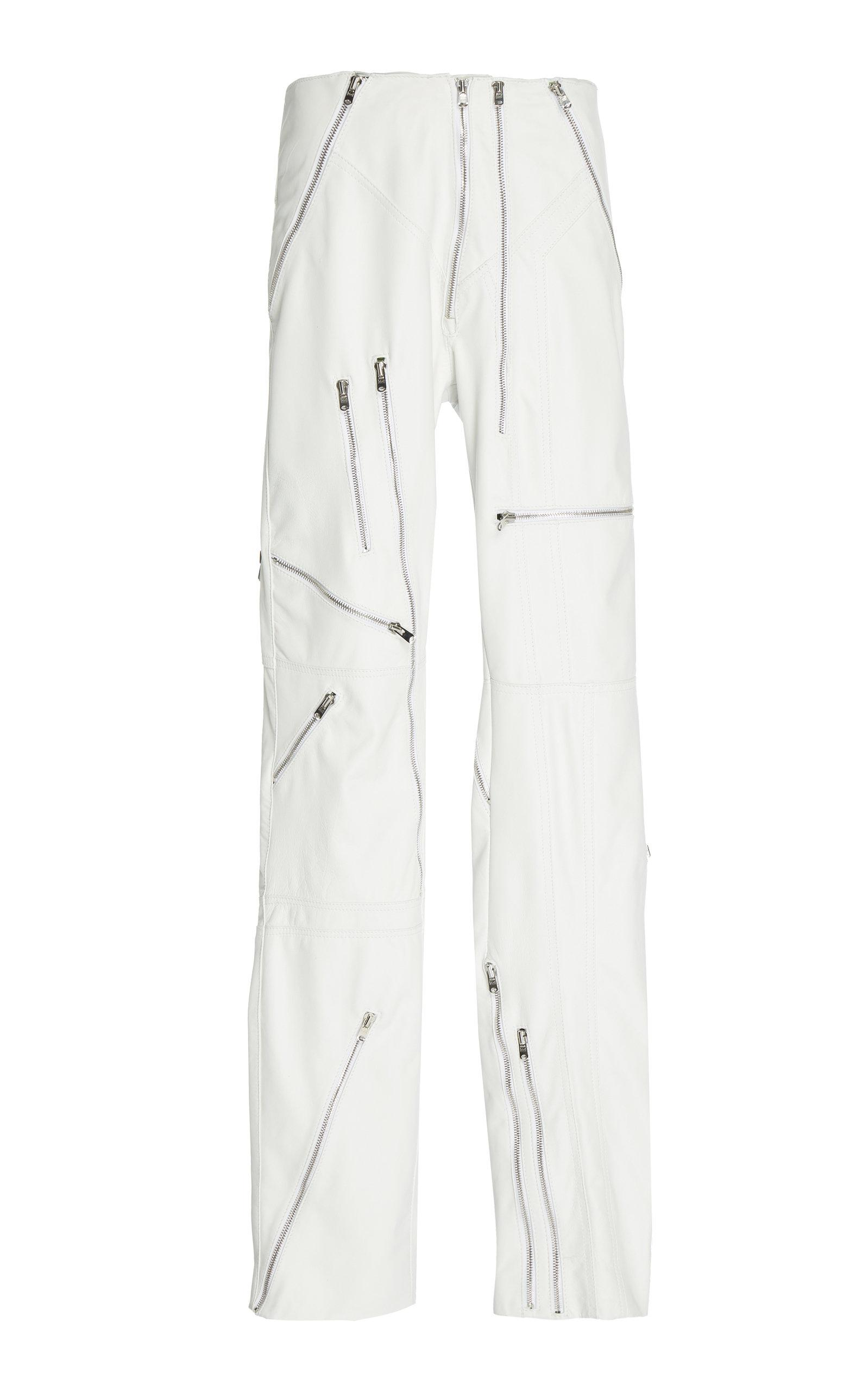 Richard Quinn Leather Pant In White