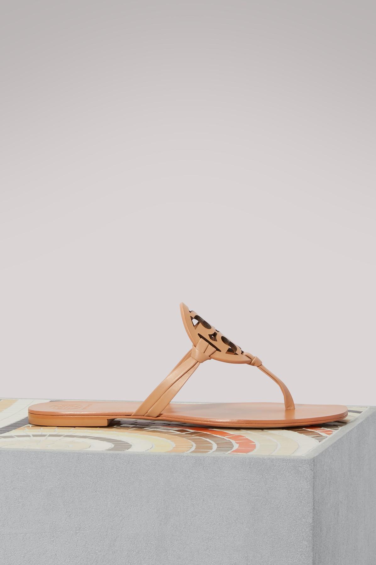 Tory Burch Miller Sandals In Natural Bachetta