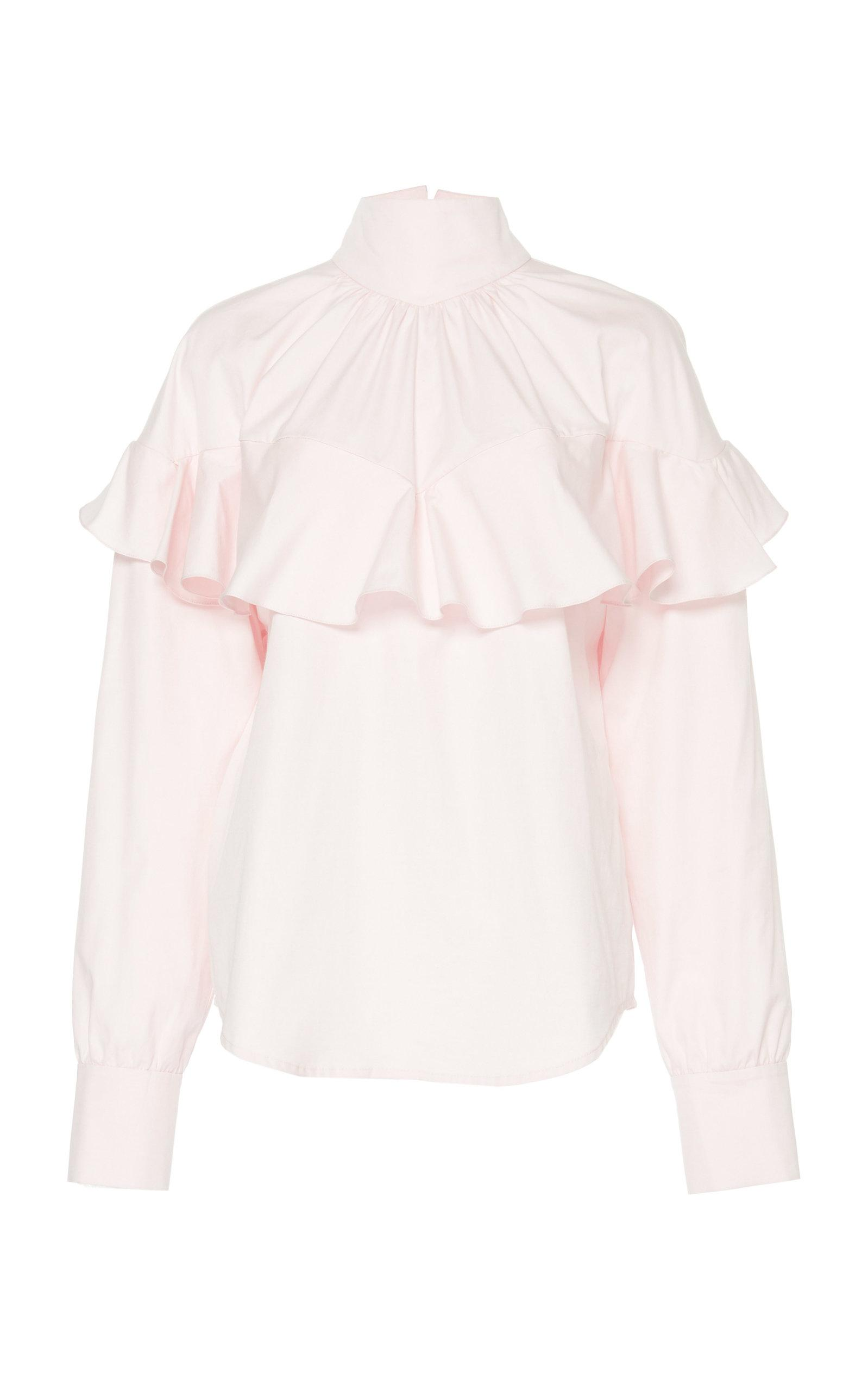 A.w.a.k.e. Front Frill Top In Pink