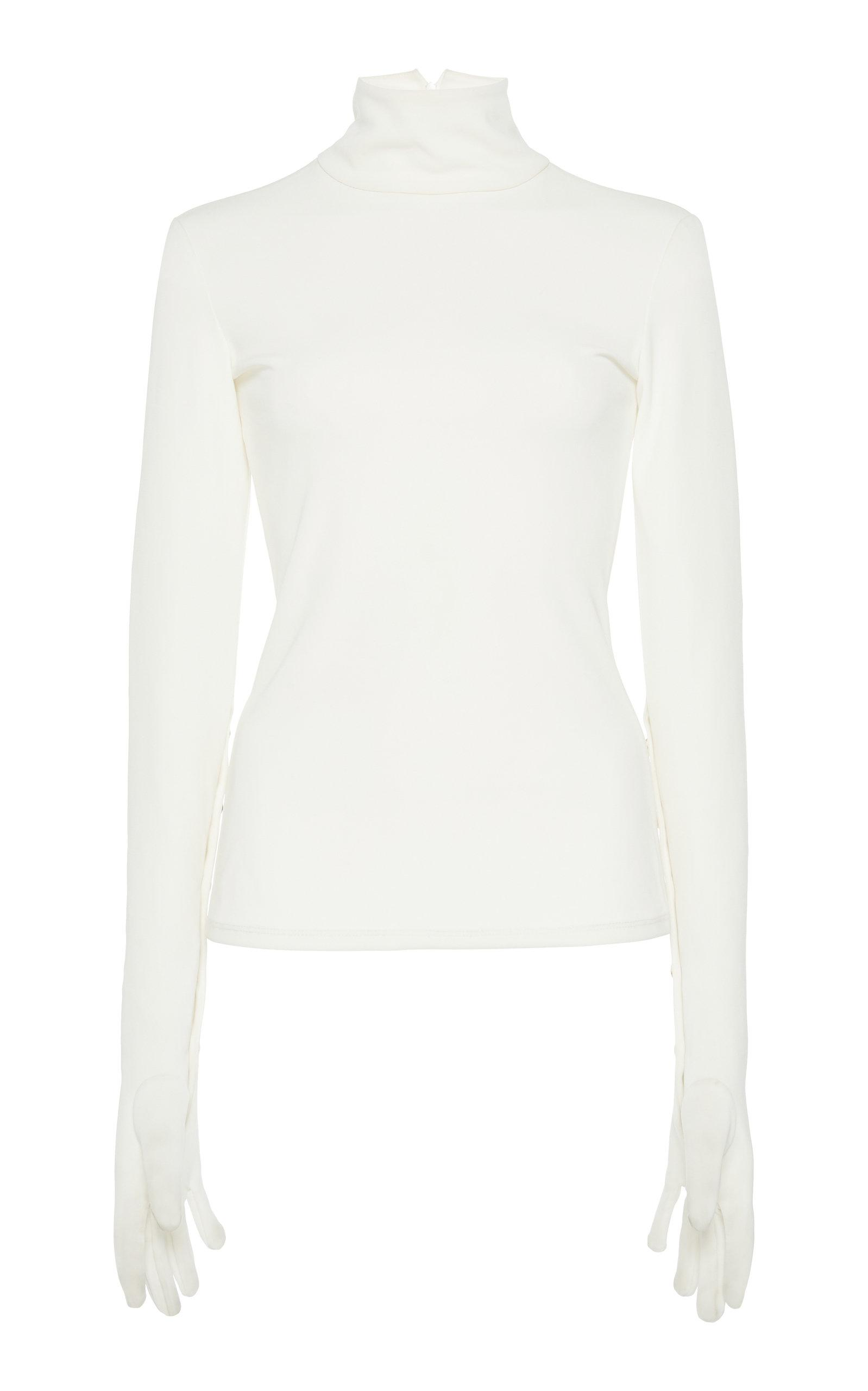 A.w.a.k.e. Gloved Turtleneck Top In White