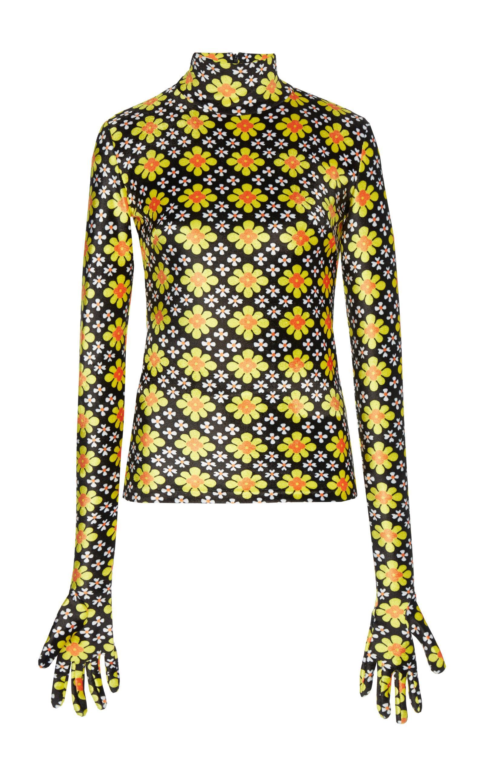 Richard Quinn Printed Roll Neck Top