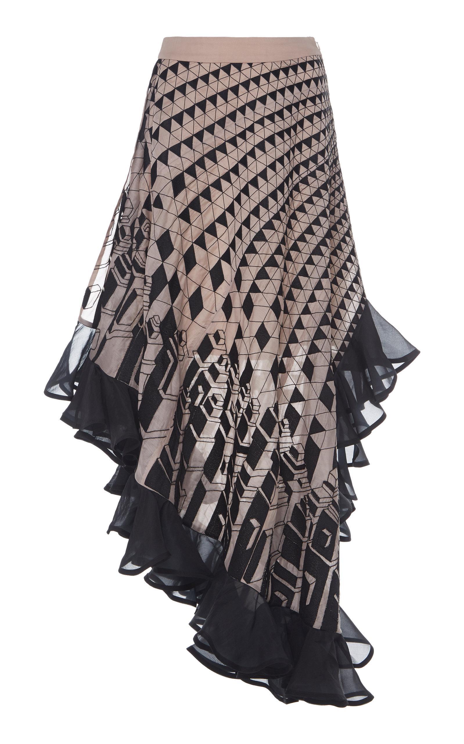 Rahul Mishra Evolutie Ruffle Skirt In Print