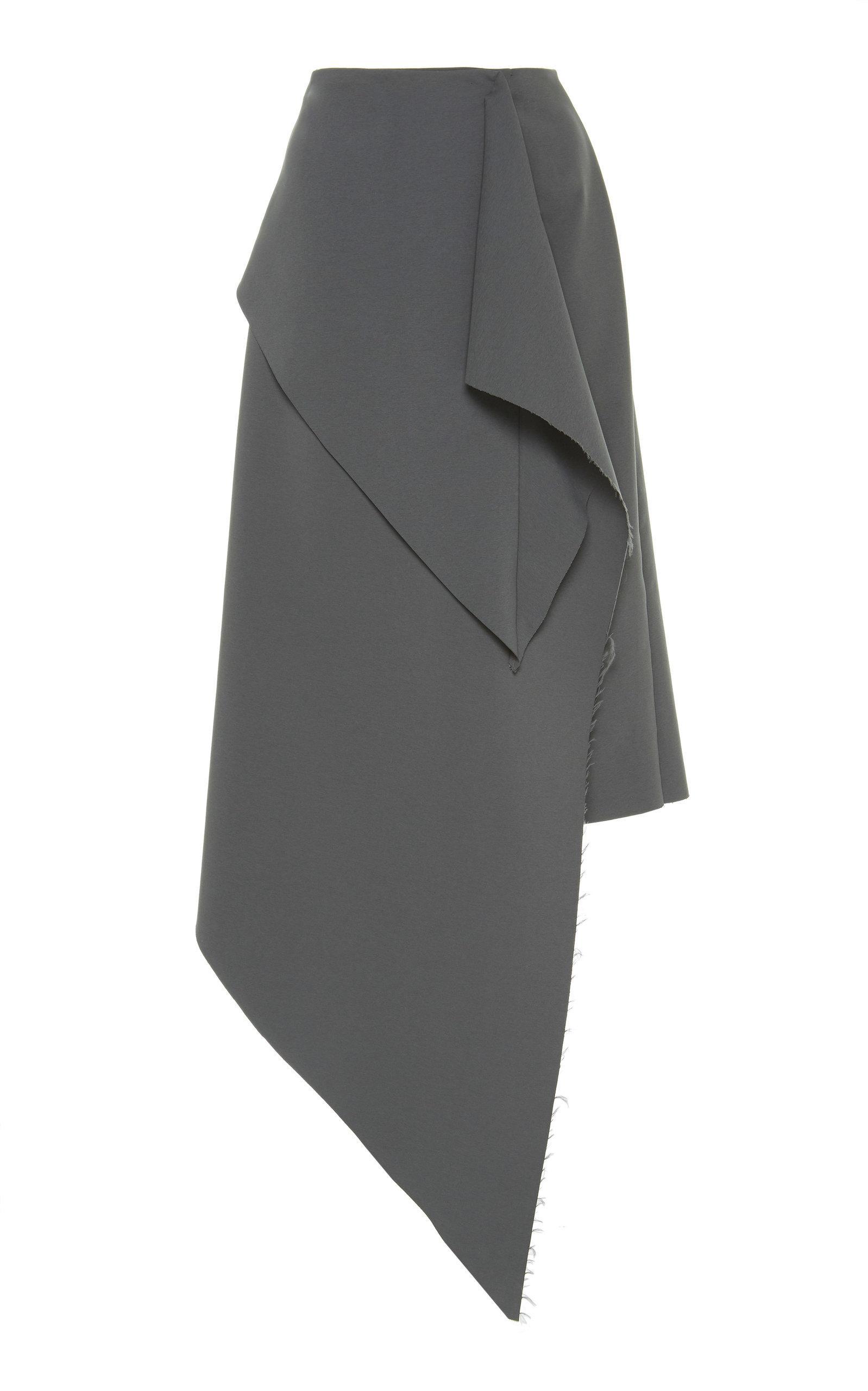 A.w.a.k.e. Asymmetric Draped Skirt In Grey