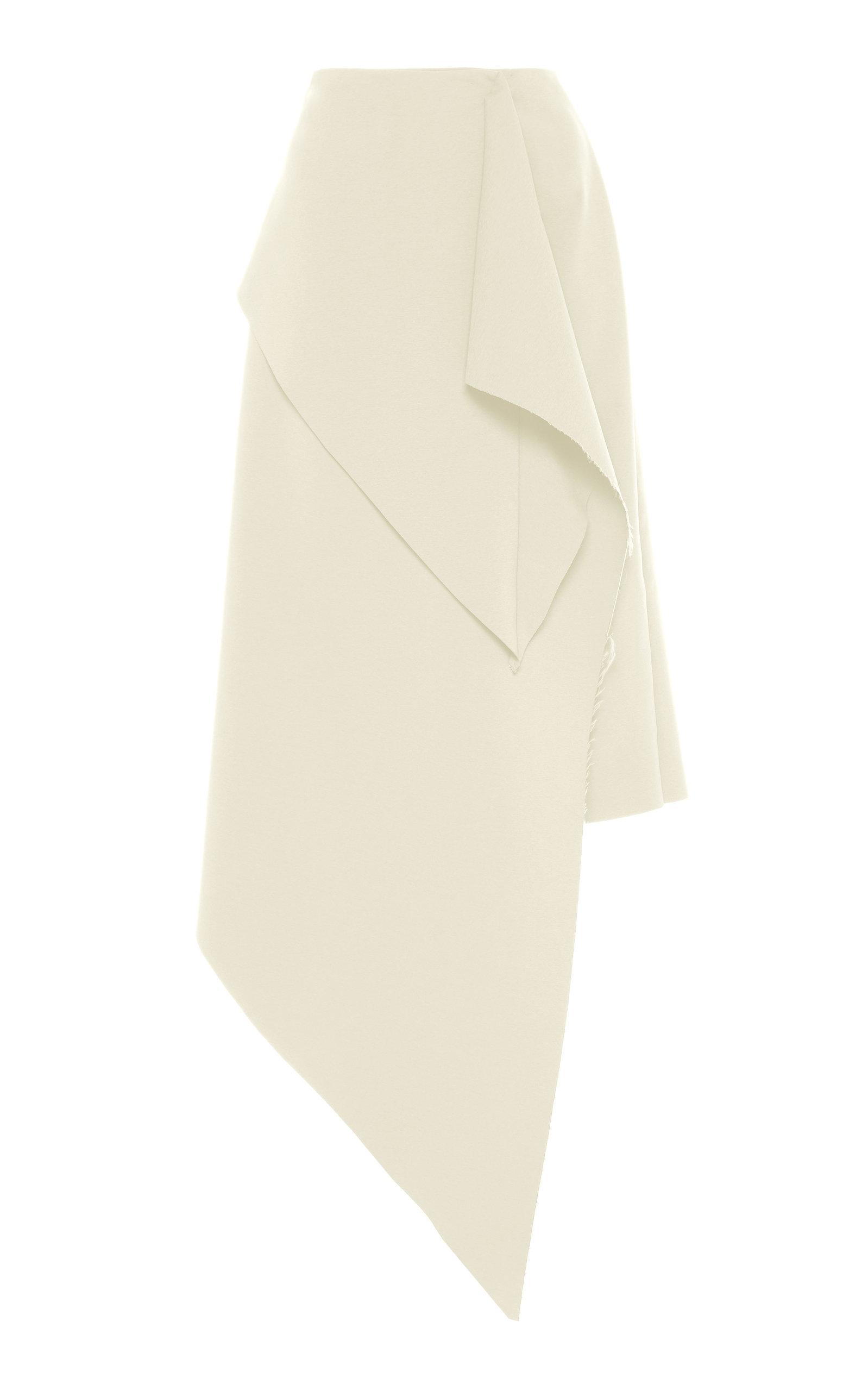A.w.a.k.e. Asymmetric Draped Skirt In White