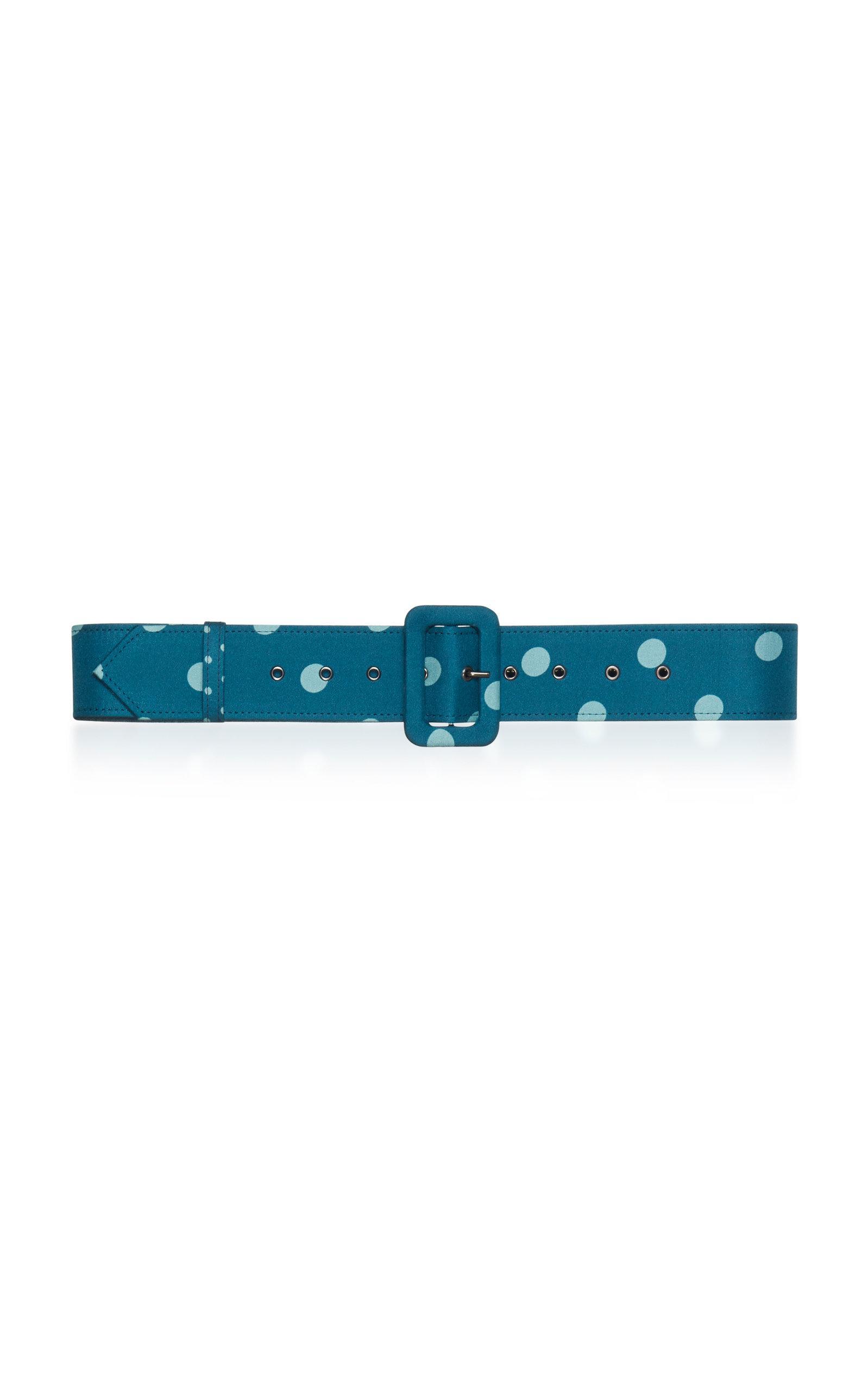 Luisa Beccaria Thin Belt In Blue