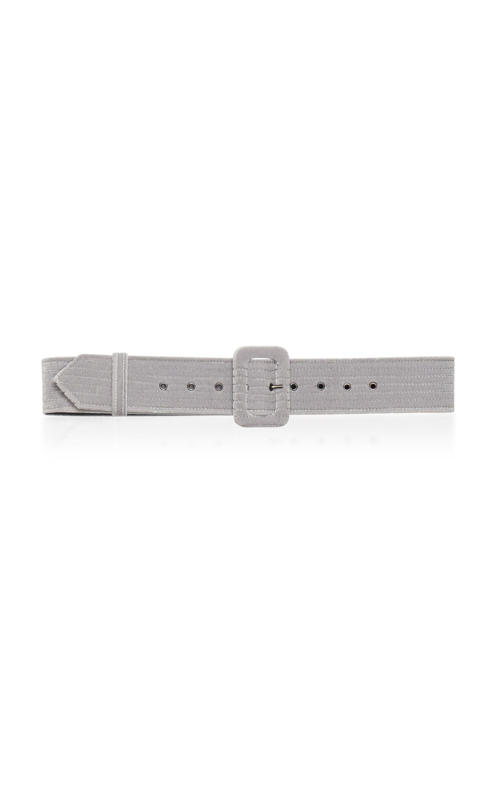 Luisa Beccaria Thin Belt In White