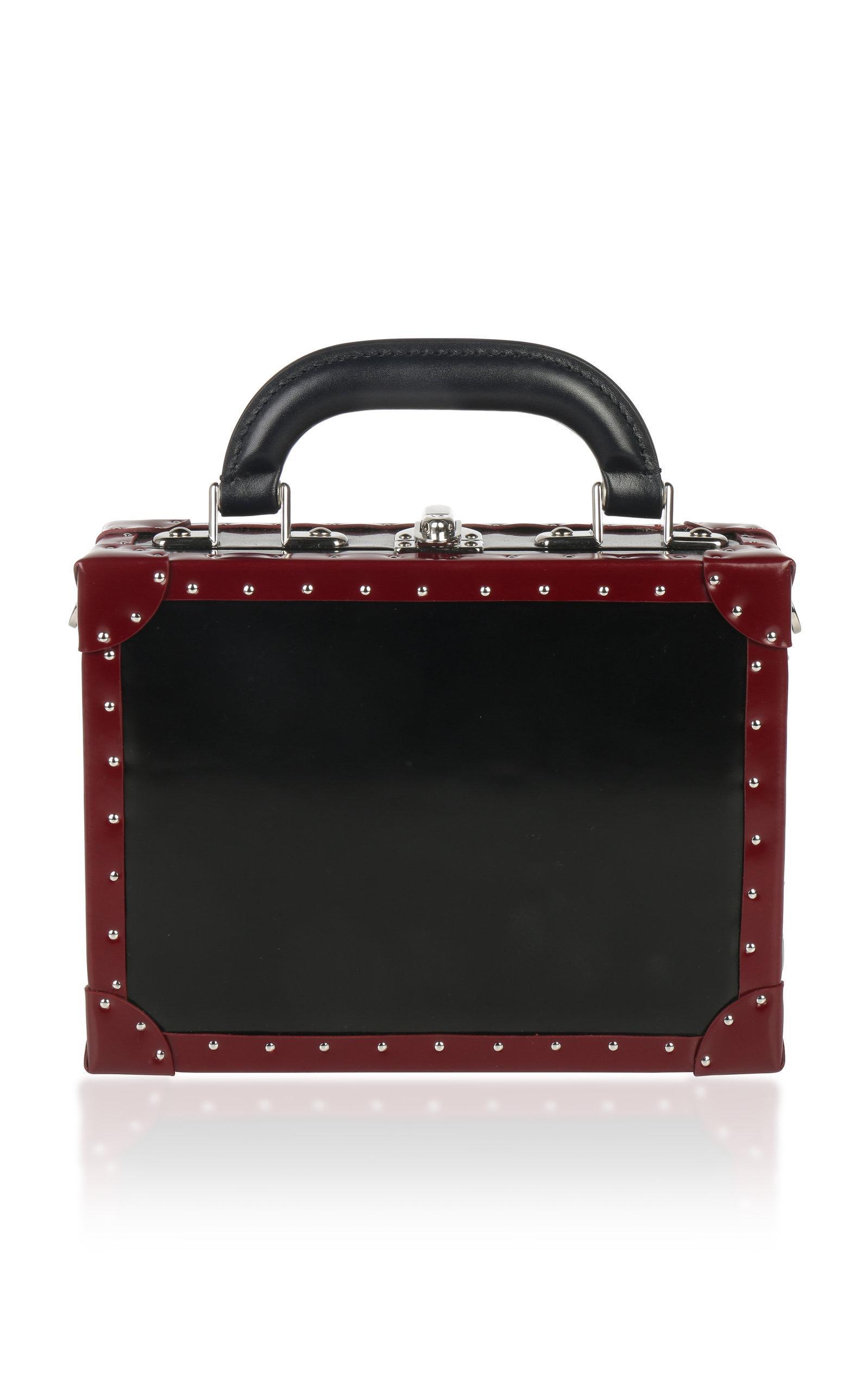 Bertoni 1949 1949 Bicolor Squared Bertoncina Bag In Black