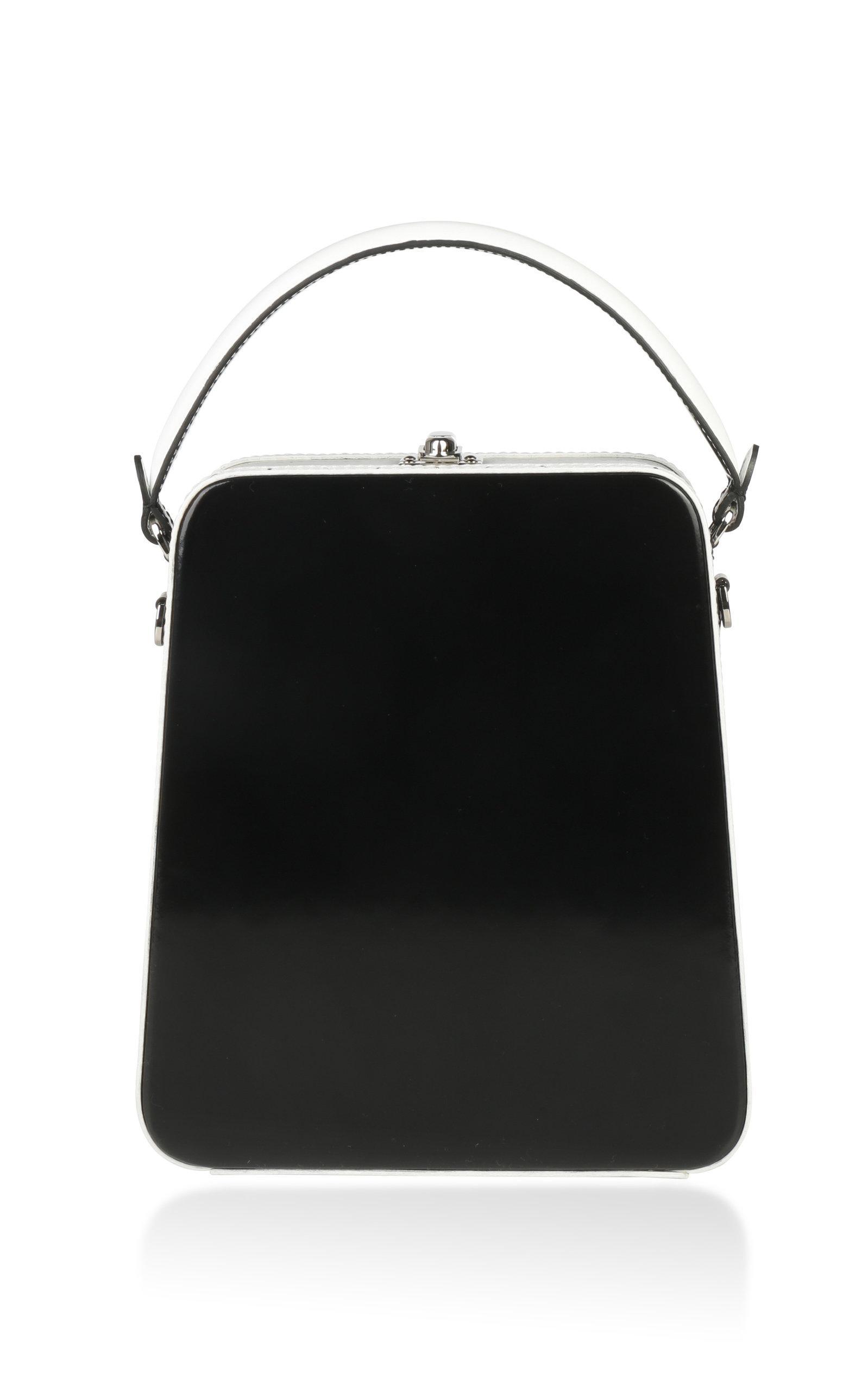 Bertoni 1949 1949 Bicolor Tall Bertoncina Bag In Black