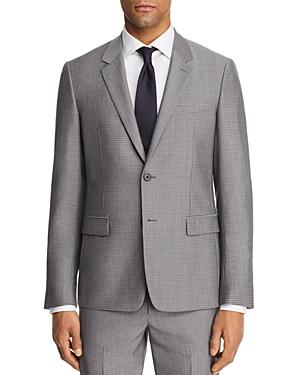 Theory Chambers Tailored Gingham Slim Fit Suit Jacket In Dove Multi Gray