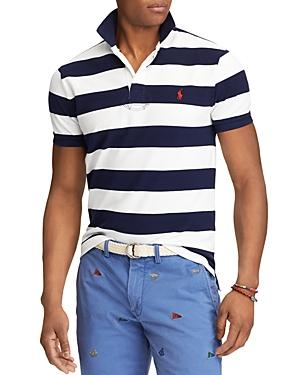 Polo Ralph Lauren Striped Mesh Custom Slim Fit Polo Shirt - 100% Exclusive In French Navy