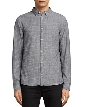 Allsaints Dulwich Regular Fit Button-Down Shirt In Light Gray