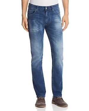 Emporio Armani Straight Fit Five-pocket Jeans In Medium Wash