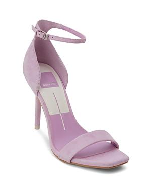 Dolce Vita Women's Halo Suede High-heel Ankle Strap Sandals In Orchid
