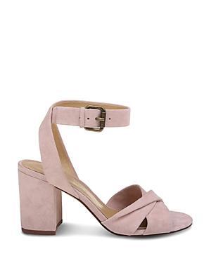 Splendid Women's Fairy Suede Block Heel Sandals In Pink