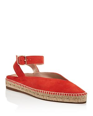 Stuart Weitzman Women's Toga Suede Espadrille Ankle Strap Flats In Paprika
