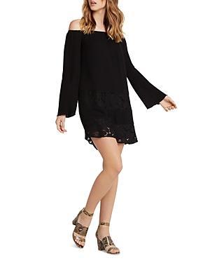 Bcbgeneration Off-the-shoulder Peasant Dress In Black