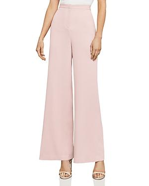Bcbgmaxazria Yaz Slit Wide-leg Pants In Dusty Pink