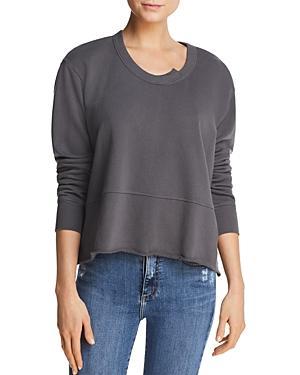 Wilt Raw-edge Boxy Sweatshirt In Coal