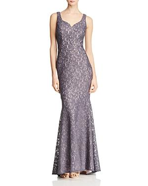 Aqua Shimmer Lace Gown - 100% Exclusive In Coal